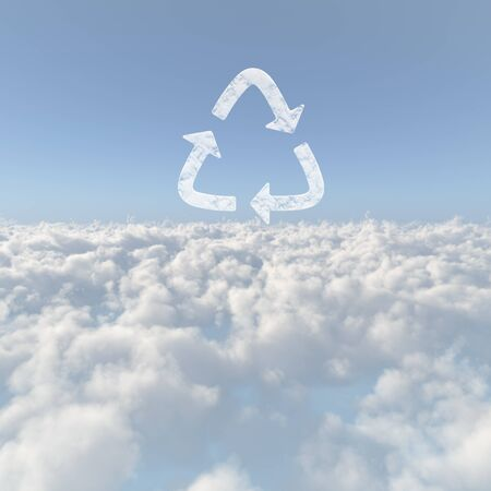 circumstance: Sea of clouds and Recycling Stock Photo