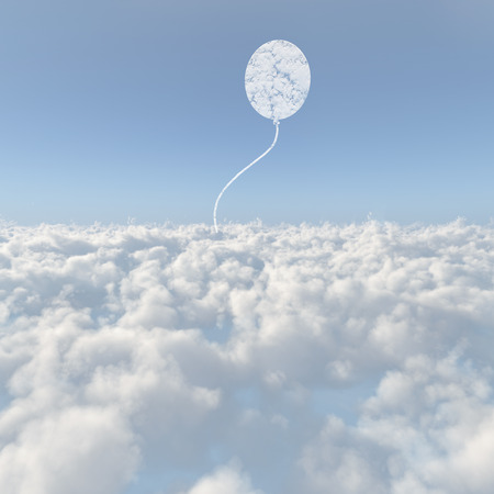 levitate: Sea of clouds and balloons cloud