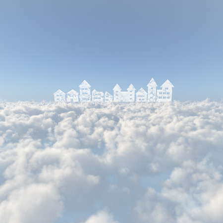 townscape: Sea of clouds and the streets of clouds