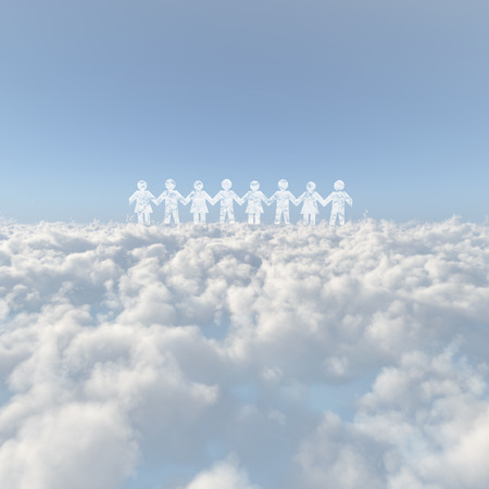 buddy: Sea of clouds and the person image Stock Photo