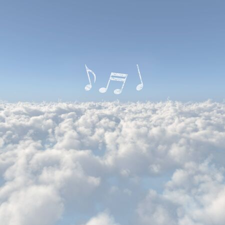 enjoyable: Sea of clouds and a note of clouds Stock Photo