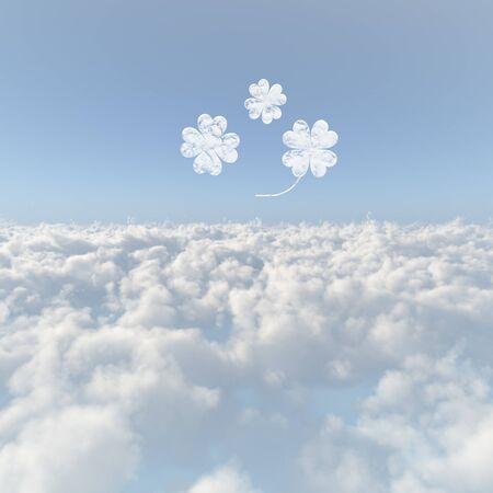 firmament: Clouds sea of clouds and Yotsuba
