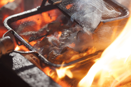 firepower: Thigh grilled Stock Photo