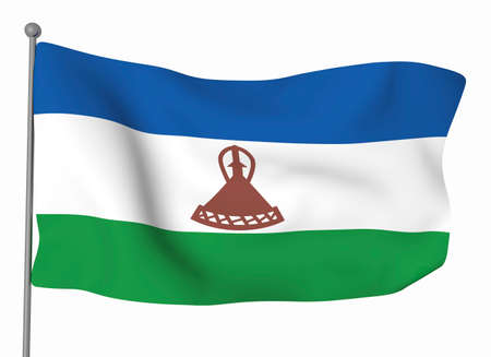 lesotho: Kingdom of Lesotho Stock Photo