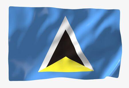 lucia: Saint Lucia Stock Photo