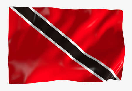 national flag trinidad and tobago: Trinidad and Tobago Stock Photo