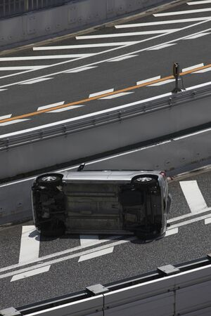 overturn: Traffic accident