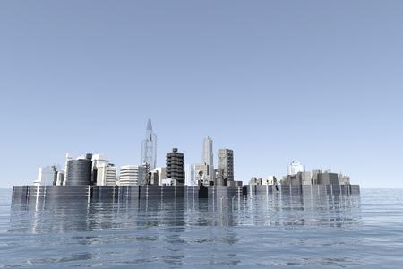 windpower: The city of renewable energy Stock Photo