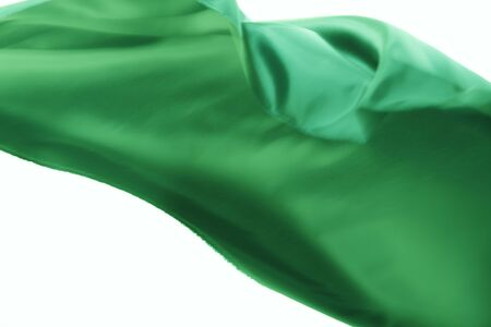 green backgrounds: Cloth swaying in the wind