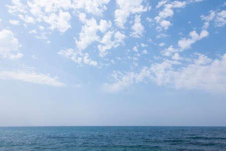 horizontal line: Horizontal line of the west from Shimonoseki Stock Photo