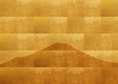 folding: Gold folding screen Fuji Stock Photo