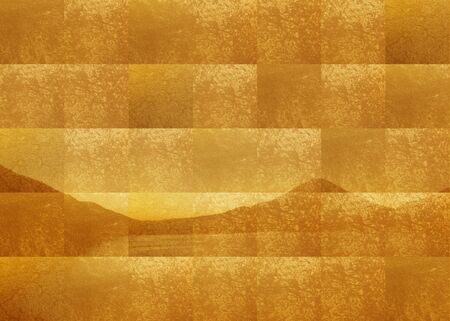 Gold folding screen Fuji Stock Photo