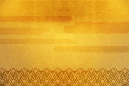 금 접기 스크린과 파도와 구름 바다 스톡 콘텐츠