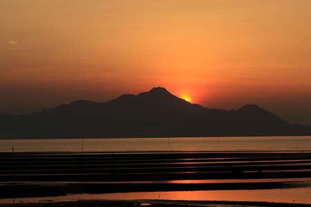 uto: Ariake Sea and Mt. Unzen Stock Photo