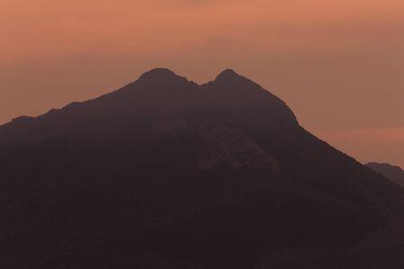 amanecer: Amanecer de Yufu Foto de archivo