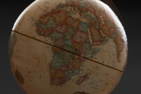 instructional: Globe, Africa, Middle East Stock Photo