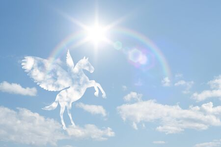 clouds blue sky: Pegasus clouds