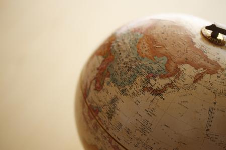 bola del mundo: Globo, Asia Foto de archivo