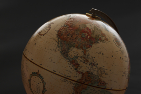 teaching material: Globe, North America