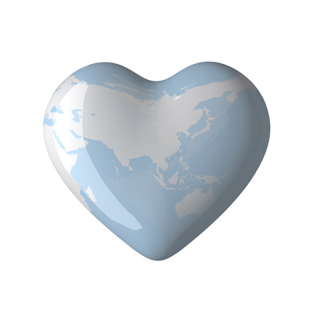 Heart of the globe Asia