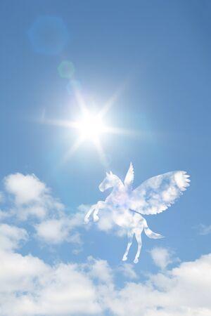 fine weather: Pegasus clouds