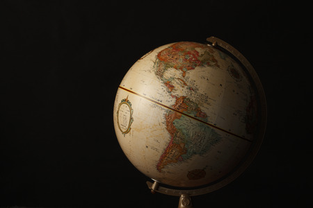 teaching material: Globes, USA Stock Photo