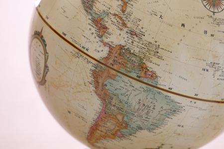 Globe, Zuid-Amerika