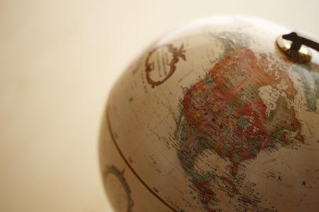 teaching material: Globe, North America
