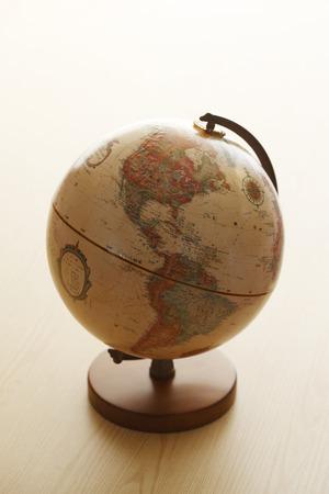 teaching material: Globes, USA Stock Photo