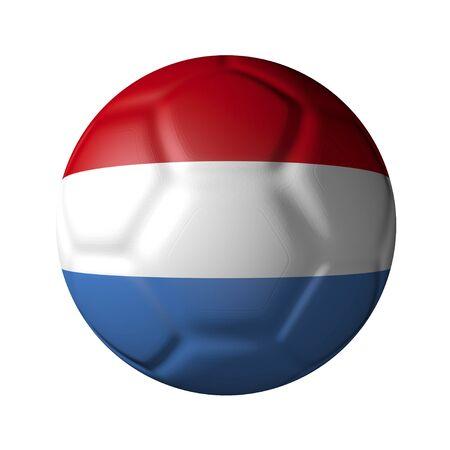 Dutch soccer ball-shaped national flag
