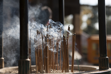 the believer: Incense sticks Stock Photo