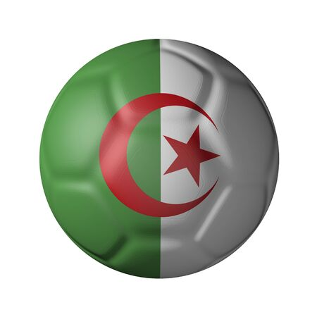 algerian: Algerian soccer ball-shaped national flag