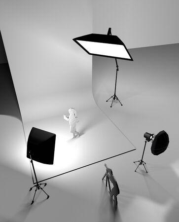 strobe: Studio Stock Photo