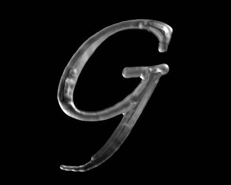液体の G 文字
