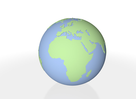 3dcg: Globe of the three-dimensional Stock Photo