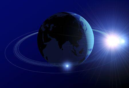 gleam: World globe Stock Photo