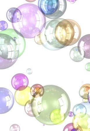 カラフルな球