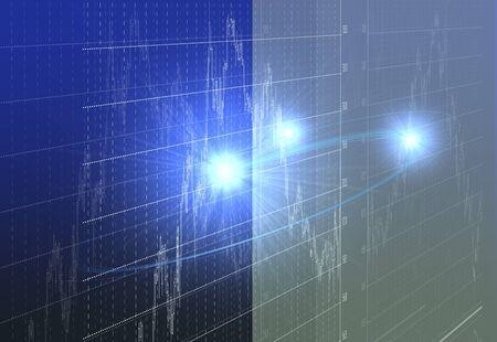 cg: Stock price chart Stock Photo