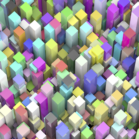 townscape: Plenty of cube Stock Photo