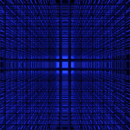 The depth of the lattice Stock Photo