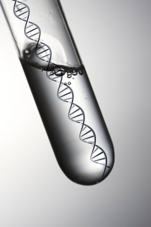heredity: DNA test image Stock Photo