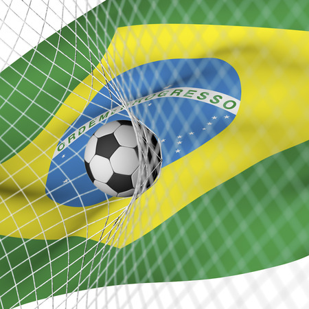 brazilian flag: Brazilian flag and soccer