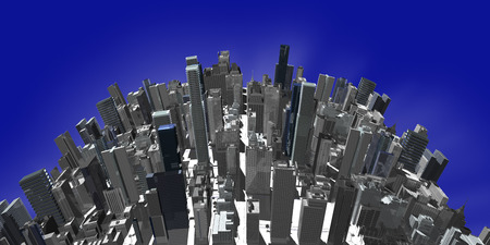 townscape: CG of high-rise building