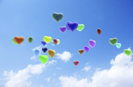 composite material: Heart balloons
