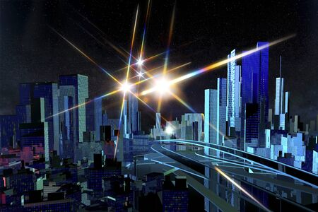 advanced technology: CG of high-rise building