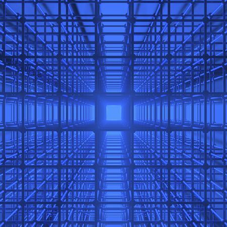 the depth: The depth of the lattice Stock Photo