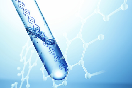 synthesis: DNA test image Stock Photo
