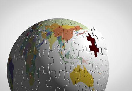 puzzle globe: Globe puzzle