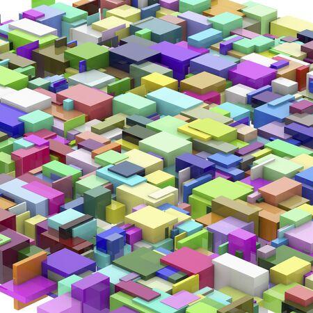bg: Plenty of cube Stock Photo