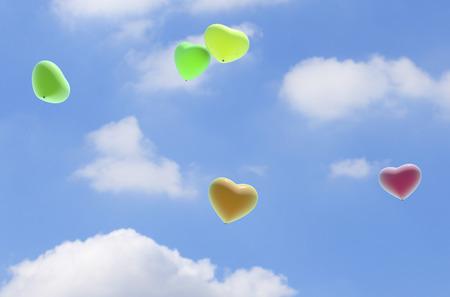 firmament: Heart balloons